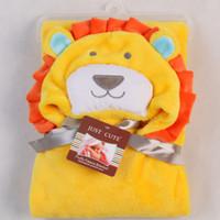 baby bathrobe - Hooded animal baby blanket newborn baby bath towel baby bathrobe cloak lovely soft sleeping bag swaddle
