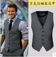 Wholesale 2017 new men s suit vest Beckham horse Slim tide Korean version of casual men s waistcoat vest