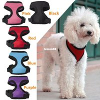 pet fabric - Hot sales pet clothing puppy dog condole belt vest nylon fabric soft and kinds of color can choose
