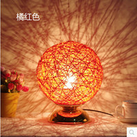 Wholesale 2016 Special Offer Table Lamps for Living Room Modern Home Table Lamp Hand made Hemp Rope Decoration Desk Lampshade Ball Light