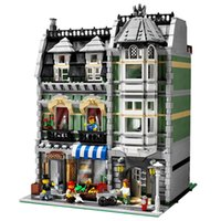 Wholesale Lepin City Street Creator Green Grocer Model Building Kits Blocks Bricks Compatible With Birthday Gift