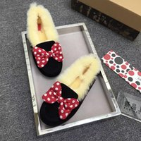 disney plush - with box new Disney Real Australia High quality cute warm snow boots Teenage Students Snow Winter boots