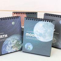 Wholesale Amazing galaxy calendar Earth Moon Planet table calendar calendario Stationery Office accessories School Supplies