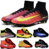 Wholesale Kids Magista Obra Fg Soccer Shoes Botas Men Mercurial Superfly FG Football Boots Superfly CR7 Mens Soccer Cleats Boots Cheap Football Cleats