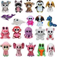 Wholesale Ty Beanie Boos Plush Stuffed Toys Big Eyes Animals Soft Dolls for Kids Birthday Gifts Christmas Xmas XL P195