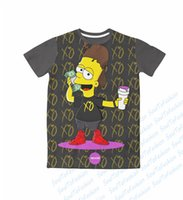 bart simpson shirts - Real USA Size custom made The Weeknd Toasted Bart Simpson D Sublimation print T Shirt unisex clothing