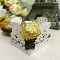 baby shower candy wrappers - 50pcs Bear Cupcake Wrappers Candy Box Bar Baby Shower Gifts Bar Party Chocolate Candy Bar Cake Accessories Party