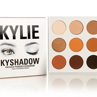 Wholesale 2016 NEW Kylie Cosmetics Jenner Kyshadow Kit Eyeshadow Palette Bronze Preorder Colors by DHL