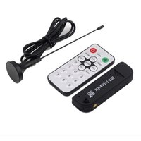 Wholesale 1Pcs Super Digital RTL2832U R820T TV Tuner Receiver with antenna for PC for Laptop Support SDR