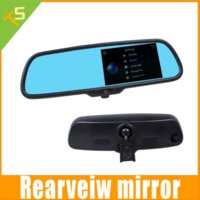 Wholesale Car inch LCD Blue Screen Anti glares Rearview Mirror Monitor with wide Angle DVR GPS FM Bluetooth multi function