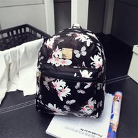 Wholesale 2017 Women Backpack Hot Sale Fashion Causal Floral Printing Backpacks PU Leather Backpack Bags For Teenagers Girls Mochilas Hot Sale