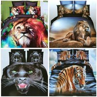 Wholesale 2017 Home Textiles D animal Reactive printing cotton bedding set duvet quilt cover bed sheet Pillowcase bedclothes BB002