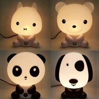 baby bedding dogs - New Baby Room Panda Rabbit Dog Cat Cartoon Night Sleeping Light Kids Bed Lamp Night Sleeping Lamp Best for Gifts EU US Plug