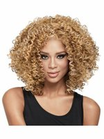 african american wigs weaves - 2015 African American Wigs Synthetic Fiber Lace Front Short Afro kinky Curly Hair Wigs for Black Women Fashion Styles Brazilian Hair Weave