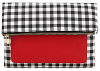 Wholesale LKX IPad Holder Clutch BUY ONE GET ON FREE Popular Day Clutches for Ipad Protection Fold Over Style Gingham
