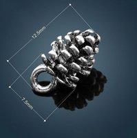 antique cedar - 300pcs x7 mm Antique Silver The cedar nut Alloy Charm Metal Hole Beads Dangle Fit European Bracelets April Style
