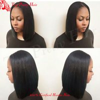 Wholesale Celebrity Real Hair Wigs - Cheap Bob Short Cut Wigs Human Natural Brazilian Hair Glueless Wig For Black Women Celebrity Real Human Lace Wigs With Baby Hair