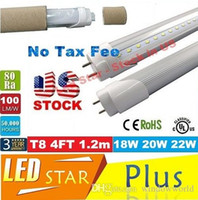 Wholesale Stock In USA ft led tube W w W T8 m Led Lights Tubes AC V No Tax Fee