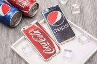 apple pepsi - New Fashion Colorful Pepsi Coca Cola Pattern Back Cover D TPU Soft Phone Case Mobile Phone Cases for Iphone6 plus Iphone7 plus