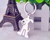 Wholesale NEW High Quality Lovely dog Alloy key chain Keychain key chain key ring wedding favors key chain wedding gifts