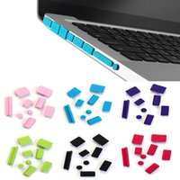 Wholesale Beautiful Gitf New Silicone Anti Dust Plug Ports Cover Set For Laptop Macbook Pro Jan14