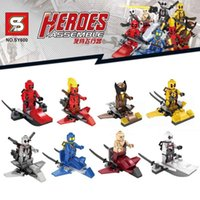 aircraft build - Marvel Super Heroes Avengers Movie Deadpool Classic Figure Building Blocks Deadstroke Wolverine Cable Minifigure Brick Toys Aircraft SY600