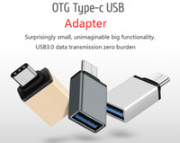 apple adapter macbook - Metal USB Type C OTG Adapter Male to USB A Female Converter Adapter OTG Function for Macbook Google Chromebook