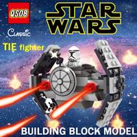 lego like TIE fighter Chenghai Zorn-Star Wars TIE fighter building blocks model +2 dolls Imperial Stormtrooper Assemble building blocks Boy toys Christmas gift wholesale