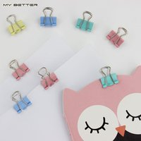 Wholesale 15mm Fresh Style Color Metal Binder Clips Notes Letter Paper Books File School Office Stationery Supplies