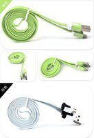 Wholesale 1000pcs M FT V8 Micro USB Data USB Cable Charging Cord Colorful for Samsung S3 S4 HTC ONE M8 Blackberry SONY MOBILE PHONE A SJ