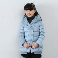 Wholesale New Winter Down Jacket For Girls Black Blue Rose Fashion Girls Winter Outwear