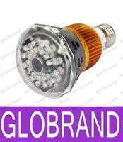 al por mayor f5 networks-HD bulbo escondida red IP WiFi inteligente Cámara DVR TF tarjeta de 36 F5 Soporte de luz blanca de 32 GB de infrarrojos de visión nocturna de detección de movimiento GLO533