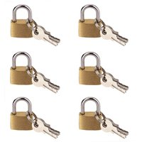 Wholesale 6 MM Small Metal Padlock Mini Brass Tiny Lock Travel Luggage Suitcase Bag Padlocks With Key Anti theft Locks