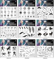 arm star tattoos - 318 Patterns CM HSC Temporary Water transfer Body Art Tattoo Sticker waterproof black solid color feather skull star kiss cross heart