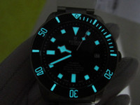 best titanium watch - free rubber strap TB Best version TOP quality ZF mm TITANIUM bracelet TN DIVE watch MEN S WATCH AUTOMATIC SAPPHIRE wristwatch