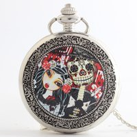 Cheap Antique pocket watches Best Women's Quartz Ancient Nightmare Before Christmas pocke