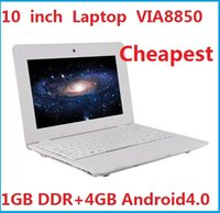 Wholesale Cheap inch Laptop UMPC Notebook Netbook with VIA8850 CPU GB DDR GB Android4 MP camera USB WiFi Support FLASH11 HDMI Output Hot