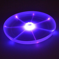 Wholesale Dog Frisbee Toys Flying Discs LED Luminous Sports Frisbees Diameter cm PU Material UFO Shape Yellow and White Color