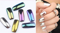 Wholesale 2016 Colorful Nail Glitter Powder Shinning Mirror Effect Nail g Makeup Powder Dust Nail Art DIY Chrome Pigment Glitters With Two Brushes