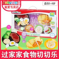 Wholesale Macao vegetables tea Western style food as children Le bagel honestly see fruit kitchen girl toy set