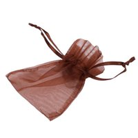 Wholesale USA Transparent Polyester Jewelry Bags Jewelry Wedding Party Gift Christmas Bag Drawstring Dark Brown J03267