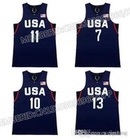 Wholesale 2016 New Stitched usa Hot sale Jersey Rio de Janeiro Embroidery Logos Dream Team Blue White Basketball Jerseys