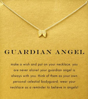 red and white rope - Dogeared Necklace with angel wing Guardian Angel noble and delicate no fade and high quality