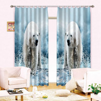 bedroom window blinds - 3D Curtain Polar Bear Window Blackout Curtains for bedroom sitting living room drapes rideaux pour le salon tailor made Summer