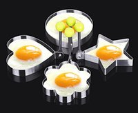 Wholesale 5 Shape Fried Egg Rings Non Stick Stainless Steel Pancake Mold Cooking Tools