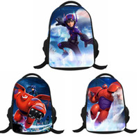 Wholesale Schoolbag Big Hero Backpack Bookbag Kids Student Cartoon School Bags Best Gift For Children Girls Boys