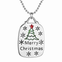 Wholesale 2016 New Arrival Fashion Alloy Merry Christmas Christmas Tree Necklace Pendant New Necklace For Gift