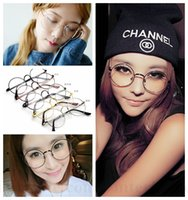 Wholesale Harry Potter Glasses Round Retro Glasses Nerd Bookworm Eye Glasses Vintage Fashion Eyeglass Cosplay Halloween Party Eyewear Clear Lens D83
