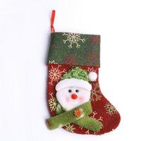 Wholesale 2016 Christmas Gift Bag Christmas sock red cloth cartoon design multi style lovely romantic Christmas gift socks