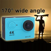 Wholesale H9 Waterproof Action Camera Utra HD K Video WIFI Sport DV Degree Wide Angle inch Screen P fps